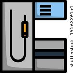 fuel station icon. editable... | Shutterstock .eps vector #1956339454