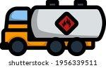 fuel tank truck icon. editable... | Shutterstock .eps vector #1956339511