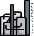 chemical plant icon. editable... | Shutterstock .eps vector #1956339514