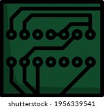 circuit board icon. editable... | Shutterstock .eps vector #1956339541