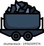 mine coal trolley icon.... | Shutterstock .eps vector #1956339574