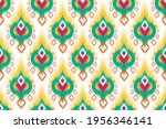 ikat indian seamless pattern... | Shutterstock .eps vector #1956346141