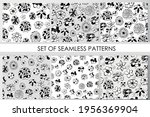 set of seamless patterns with...   Shutterstock .eps vector #1956369904