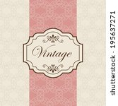 label design over beige... | Shutterstock .eps vector #195637271
