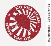 ko pha ngan stamp. travel red... | Shutterstock .eps vector #1956375481