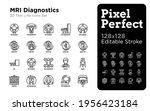 mri diagnostics thin line icons ...   Shutterstock .eps vector #1956423184