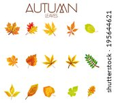 vector set of different... | Shutterstock .eps vector #195644621