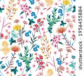 elegant blooming garden floral... | Shutterstock .eps vector #1956455884