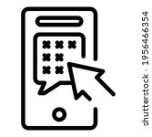 phone information icon. outline ... | Shutterstock .eps vector #1956466354