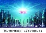 city  night panorama ... | Shutterstock .eps vector #1956485761