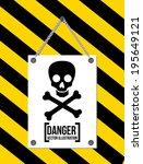 danger design over black... | Shutterstock .eps vector #195649121