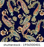 indian traditional pattern ... | Shutterstock .eps vector #1956500401