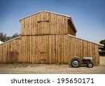 Wooden Barn With Metal Roof...
