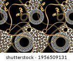 seamless chain with leopard... | Shutterstock .eps vector #1956509131