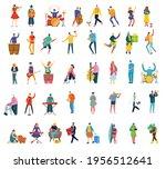 set of people  men and women... | Shutterstock .eps vector #1956512641