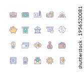 set of money and finance icons... | Shutterstock .eps vector #1956520081
