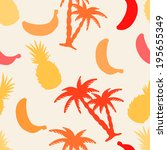 seamless pattern with... | Shutterstock . vector #195655349