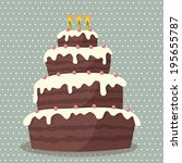 Birthday Cake. Vector...