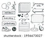 hand drawn sport or exercise... | Shutterstock .eps vector #1956673027