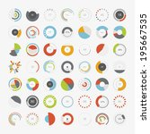 infographic elements.pie chart... | Shutterstock .eps vector #195667535