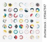 infographic elements.pie chart... | Shutterstock .eps vector #195667547