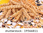 Colorful Cereal Seeds And Whea...