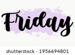 calligraphic text of days in...   Shutterstock .eps vector #1956694801