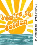 retro slogan with waves and and ... | Shutterstock .eps vector #1956695437