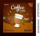 coffee time social media...   Shutterstock .eps vector #1956705301