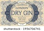 dry gin   ornate vintage... | Shutterstock .eps vector #1956706741