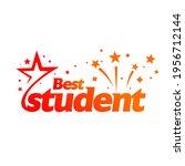 best student logo design or...   Shutterstock .eps vector #1956712144