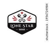 lone star garage logo design... | Shutterstock .eps vector #1956724984