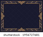 art deco frame. vintage linear... | Shutterstock .eps vector #1956727681