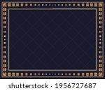 art deco frame. vintage linear... | Shutterstock .eps vector #1956727687