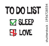 funny to do list text print.... | Shutterstock .eps vector #1956728554