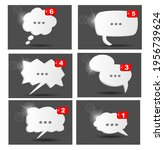 vector set of isometric chat... | Shutterstock .eps vector #1956739624