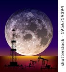 night landscape with a large... | Shutterstock .eps vector #1956759394