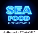 vector glowing sign seafood for ... | Shutterstock .eps vector #1956760897