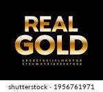 vector elite emblem real gold.... | Shutterstock .eps vector #1956761971