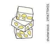 vector hand drawn turron.... | Shutterstock .eps vector #1956770431
