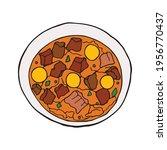 vector hand drawn migas.... | Shutterstock .eps vector #1956770437