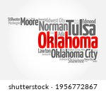 list of cities in oklahoma usa... | Shutterstock .eps vector #1956772867