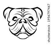 black and white line art of... | Shutterstock .eps vector #1956797467