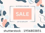 sale poster or coupon template... | Shutterstock .eps vector #1956803851