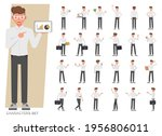set of businessman wear white... | Shutterstock .eps vector #1956806011