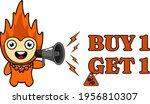 cartoon illustration of fire... | Shutterstock .eps vector #1956810307