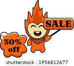 the fire mascot sale off... | Shutterstock .eps vector #1956812677