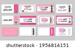set of coupon  ticket card gift ... | Shutterstock .eps vector #1956816151