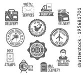 post service special delivery... | Shutterstock .eps vector #195681701