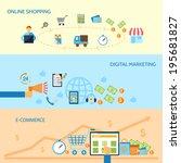 e commerce banners set of... | Shutterstock .eps vector #195681827